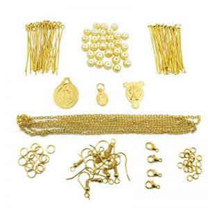 Toaob 254pcs grande Kits de création de bijoux avec apprêt Plaqué or rond Anneaux de jonction Ouverts et perles de cadeau Ideal de la marque TOAOB image 0 produit