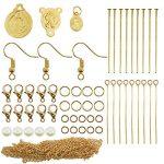 Toaob 254pcs grande Kits de création de bijoux avec apprêt Plaqué or rond Anneaux de jonction Ouverts et perles de cadeau Ideal de la marque TOAOB image 1 produit