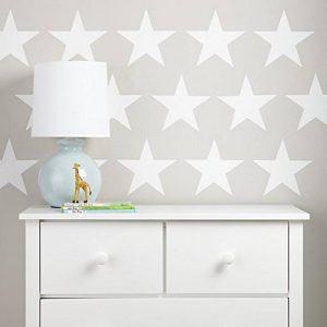 étoiles Stickers Muraux Stickers–Blanc–Lot de 20étoiles à 15cm de large de la marque Kapowboom-Graphics image 0 produit