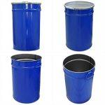 Tonneau, baril, fût métallique bleu 60 Lavec couvercle et anneau de serrage (23021) de la marque Wilai-GmbH image 1 produit