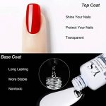Top Base Coat Semi Permanent - Y&S UV LED Vernis à Ongles Top Coat Vernis Gel et Base Coat Vernis Semi Permanent Soak Off Nail Polish 2 x 8ml de la marque Y-S image 3 produit