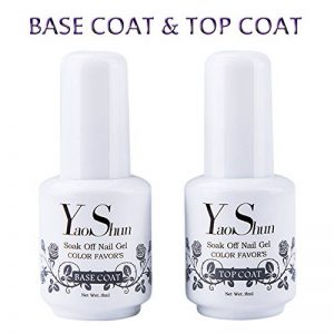 Top Base Coat Semi Permanent - Y&S UV LED Vernis à Ongles Top Coat Vernis Gel et Base Coat Vernis Semi Permanent Soak Off Nail Polish 2 x 8ml de la marque Y-S image 0 produit