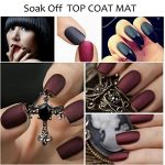 [Top Coat Mat] Détachable&Non Dégraisser Vernis à Ongles Mat Semi Permanent Nail Art French Manucure 8ml de la marque Perfect-Summer image 4 produit