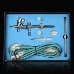 Trois couleur Kit Pro Aérographe-Aiguille 0.25, 0.3, 0.5mm diamètre 9cc capacité Double-Action Gravité Trigger-Air Brush/Pistolet Pulvérisateur métallisation pour penture/ projets artistiques/ cosmetique usage/RC Voiture/ Drone etc de la marque Excelvan image 3 produit