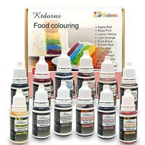 Ttdm Colorant Alimentaire Nourriture Dye Flo Nourriture Brosse à air Liquide concentré–12Couleurs avec Super Grande contenance de la marque Ttdm image 0 produit