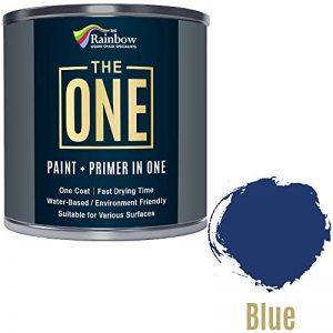 Une Peinture, un manteau, Multi Surface Peinture pour bois, métal, plastique, intérieur, extérieur, Bleu brillant, 250ml de la marque The One image 0 produit