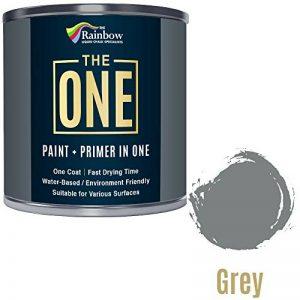 Une Peinture, un manteau, Multi Surface Peinture pour bois, métal, plastique, intérieur, extérieur, gris, Satiné, 2.5litres de la marque THE ONE image 0 produit