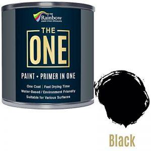 Une Peinture, un manteau, Multi Surface Peinture pour bois, métal, plastique, intérieur, extérieur, Noir, mat, 250ml de la marque THE ONE image 0 produit