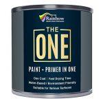 Une Peinture, un manteau, Multi Surface Peinture pour bois, métal, plastique, intérieur, extérieur, Noir, mat, 250ml de la marque THE ONE image 3 produit