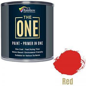 Une Peinture, un manteau, Multi Surface Peinture pour bois, métal, plastique, intérieur, extérieur, Rouge, brillant, 1litre de la marque THE ONE image 0 produit