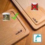 Uulki Entretien Naturel du Bois (250 ML) – 100% à Base de Plantes/Vegan – Huile et Cire 2 en 1 pour Planches à découper, Billot Bloc de Boucher, Plans de Travail, Tables, ustensiles de Cuisine de la marque Uulki image 2 produit