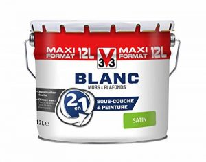 V33 112298 Peinture Blanc 2 en 1 murs et plafonds Sat de la marque V33 image 0 produit