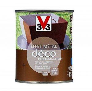 V33 Peinture fer effet métal Idéco préparation, Zinc noirci, 0,25L de la marque V8 image 0 produit