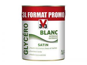 V33 Peinture glycéro Satin - intérieur/ extérieur, Blanc, 3L de la marque V33 image 0 produit