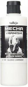 """Vallejo 200ml""""AV Mécanismes. Couleur"""" acrylique Couleur Airbrush–Vernis brillant de la marque Vallejo image 0 produit"""