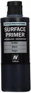 Vallejo - Apprêt pour maquette - 200ml - Polyuréthane - Coloré Noir de la marque Vallejo image 0 produit