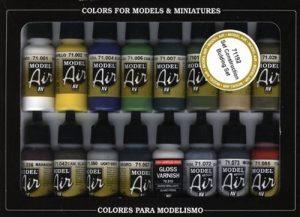 Vallejo Model Air Building Set de peinture acrylique pour air brush–Couleurs assorties (Lot de 16) de la marque Vallejo image 0 produit