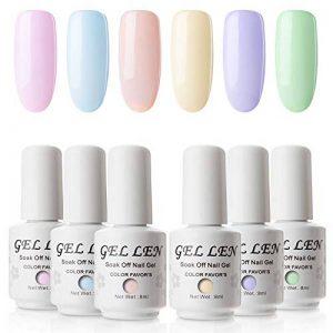 Vernis Gel Semi Permanent - Gellen Vernis à Ongles Nail Gel UV LED Soak off Manucure Kit 6×8ml, Nouveauté 01 de la marque Gellen image 0 produit