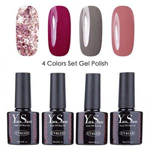 Vernis Gel Semi Permanent - Y&S UV LED Vernis à Ongles Gel Soak Off Nail Polish Kit 4 Couleurs x 10ml, Lot Amour de la marque Y-S image 0 produit