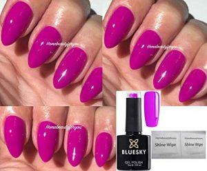Vernis à ongles gel par Bluesky Neon 28 - Rose fushia - Séchage sous lampe UV/ LED - 10ml - 2lingettes Homebeautyforyou incluses de la marque Bluesky image 0 produit