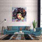 VIIVEI Coloré Mur Art Abstrait Neuf Graffiti Street Moderne Africaine Femme Femelle Portrait Peinture sur Toile sur des Impressions pour Le Salon Cadre en Bois de la marque VIIVEI image 2 produit