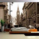 VVNASD 3D Peintures Murales Fond D'Écran Décorations des Autocollants Mur Style Européen Vintage City Building Café Clubs Salon Décoration Intérieure Intérieur Art des Gamins TV (W) 200X(H) 140Cm de la marque VVNASD image 3 produit