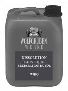 W800 SOLUTION DE GRAVURE ACIDE pour une meilleure adhérence 10L   Type: Wolfgruben Werke (WO-WE)  comme préparation de surface pour peinture de sol W700 et résine époxy W701 de la marque Wowe image 0 produit