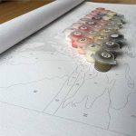 Waofe Images Numériques De Peinture De Fleur Par Numéro Moderne D'Art De Mur De Bricolage Pour Le Cadeau De Décor À La Maison Colorant Par L'Illustration Murale De Nombres, 40X50Cm, Avec Le Cadre de la marque Waofe image 4 produit