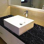 WDragon Revêtement autocollant en vinyle pour plan de travail de cuisine effet marbre noir/gris 61x 200,7cm, Vinyle Plastique, 24in X 79in de la marque WDragon image 3 produit