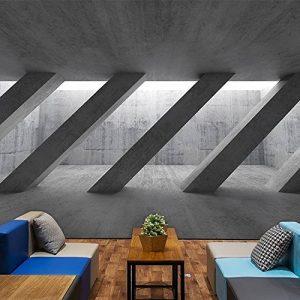 Wongxl Espace Visuel 3D Le Mur De Papier De Musique En Béton Bar Café Papier Peint Gris Mur Papier Peint 3D Papier Peint Wallpaper Fresque Mural 300cmX250cm de la marque Wongxl image 0 produit