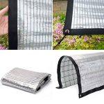XIAOYAN Sunshade Net , Sunscreen Net 80% de taux d'ombrage du Papier d'aluminium Protection Solaire argentée pour Plante Verte Multi-Taille en Option (Couleur : Silver, Taille : 4×4m/13.12×13.12ft) de la marque XIAOYAN image 2 produit