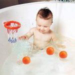 XNFIVE Bébé Jouet de Bain, Mini Panier de Basket et 3 Balles Kit pour 3+ Âge Enfant Bambin, Baignoire Jeu de tir Basketball Hoop avec Suctions Tasses pour Petits Filles et Garçons de la marque XNFIVE image 3 produit
