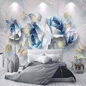 Xzfddn Style Européen 3D Stéréo Rose Fleurs Photo Peintures Murales Salon Tv Chambre Décor À La Maison Fond Muraux Papiers Pour Murs 3D-450X300Cm de la marque xzfddn image 0 produit