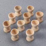 YeahiBaby Lot de 10 coquetiers en Bois à Peindre de la marque YeahiBaby image 3 produit