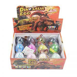 Yeelan Dino Dinosaure dragon oeufs d'incubation Growing Toy grande taille Pack of 12 pcs, mélanger les couleurs de la marque Yeelan image 0 produit