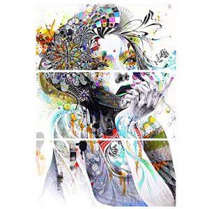 Yeshi Lot de 3pcs coloré salle de dessin Fille de peinture murale Tableau Déco Home Decor 35x70cm de la marque Yeshi image 0 produit