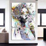 Yeshi Lot de 3pcs coloré salle de dessin Fille de peinture murale Tableau Déco Home Decor 35x70cm de la marque Yeshi image 1 produit