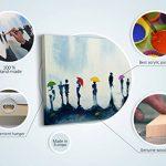 YS-Art Tableau Peinture Acrylique Couleurs Barcelone| Peint à la Main | 115x50cm | Tableau | Art Moderne|Unique| Coloré de la marque YS-Art image 3 produit