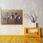 Zerama Huile Abstraite Cartoon zèbre Peinture colorée Mur décoratif en Toile Photos Art Non Encadré Huile Dessin Affiches de la marque Zerama image 1 produit