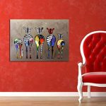 Zerama Huile Abstraite Cartoon zèbre Peinture colorée Mur décoratif en Toile Photos Art Non Encadré Huile Dessin Affiches de la marque Zerama image 3 produit