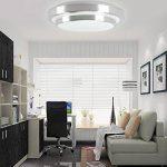 ZHMA 18W Plafonnier LED, 6000K Blanc, 1440 LM, Lampe de Plafond Imperméable IP44, Luminaire Intérieur, Eclairage Rond, Parfait pour Plafond de Salle de Bain, Cuisine, Couloir, Salon, 220V de la marque ZHMA image 4 produit