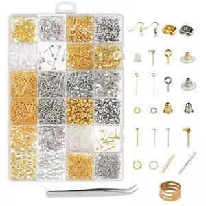ZoomSky Kit Fabrication de Bijoux, 2416 Pcs Kit Bijoux Création Argent Or Fermoir Bracelet Accessoire de Réparation de Bijoux pour DIY Boucles d'oreilles Colliers Bracelets de la marque ZoomSky image 0 produit