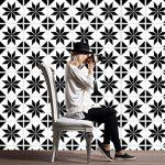 ZYX Stickers muraux carreaux en Vintage salle de bain et cuisine | adhésif sticker feuille pour carreaux salle de bain et crédence Autocollant de plancher Rétro noir et blanc CZ054 , 20cm*100cm*2pcs de la marque JY ART image 1 produit